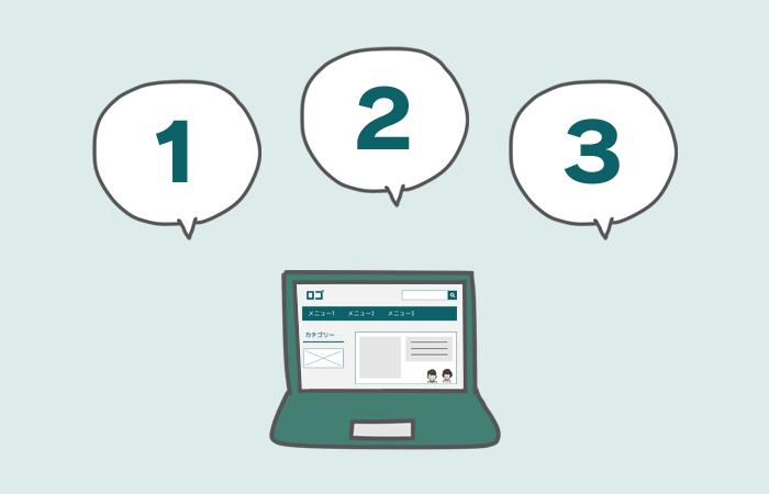 ホームページ作成の3つの手順