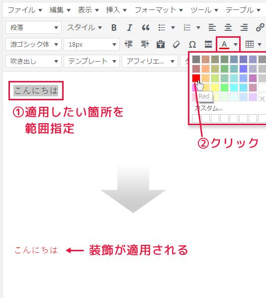 WordPress文字色を変更